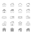 House and Home Set Of Building Icons Line vector image