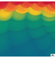 Rainbow Wallpaper Abstract Wavy Grid Background vector image