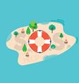 SOS Message On The Sea Island vector image