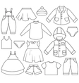 kids clothing vector image