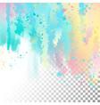 abstract watercolor border vector image vector image