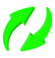 arrows green recycle 3d icons vector image vector image