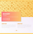 bakery concept with thin line icons vector image vector image