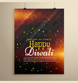 beautiful happy diwali flyer template with vector image vector image