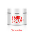 beauty cream jar template with place for your vector image vector image