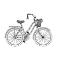 bicycle engraving style vector image vector image