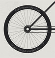 bike wheel with quote vector image vector image