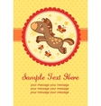 birthday party card with horse vector image