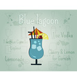Blue Lagoon Cocktail banner and poster template vector image
