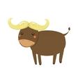 Buffalo Realistic Childish vector image