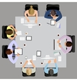 Business meeting in top view vector image vector image