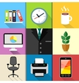 Business suit set vector image vector image