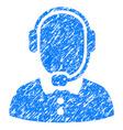 call center operator grunge icon vector image vector image