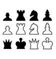 Chess pieces symbols vector image vector image