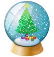 Christmas Tree Crystal Ball vector image
