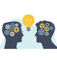 collective mind brainstorming concept vector image vector image
