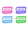 Colorful paint stains for your text set isolated vector image vector image