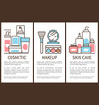 cosmetic and makeup skin care vector image vector image