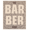 Creative placard for barber shop vector image vector image