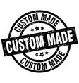 custom made round grunge black stamp vector image vector image