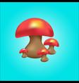 cute mushroom vector image vector image