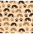 dog and footprint seamless pattern eps10 vector image vector image