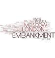 embankment word cloud concept vector image vector image