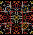 embroidery seamless pattern for christmas vector image vector image
