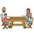 family people cartoon vector image
