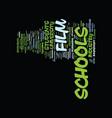 film schools text background word cloud concept vector image vector image