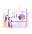 finance strategy analitic data startup flat vector image vector image
