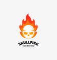 fire skull design template vector image