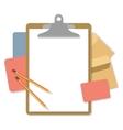 Flat mockups for website design vector image vector image