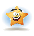 funny star character icon vector image vector image