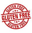 gluten free round red grunge stamp vector image vector image