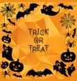 halloween background trick or treat vector image vector image