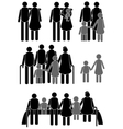 Happy family icon vector image