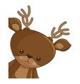 happy merry christmas reindeer kawaii character vector image