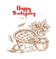 Happy Thanksgiving Thank You greeting card vector image vector image