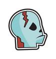 head halloween logo icon design vector image vector image