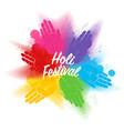 holi festival a spring festival colors vector image