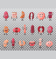 isolated smiling isolated meat cartoon characters vector image vector image