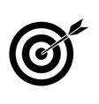 isolated target shooting vector image vector image