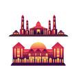 muslim mosque mosque design beautiful muslim vector image