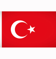 national flag turkey vector image vector image