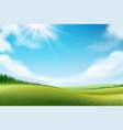 nature landscape or meadow panorama vector image vector image