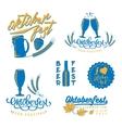 Oktoberfest logo set vector image vector image