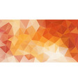 orange geometric background with triangles for vector image vector image