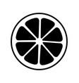 orange icon isolated on vector image
