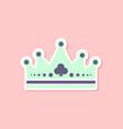 Paper sticker on stylish background crown royal